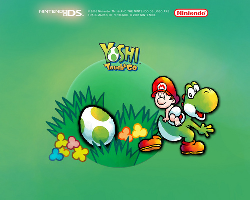 Yoshi wallpaper containing anime called Yoshi Touch & Go