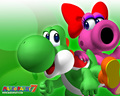 yoshi - Yoshi and Birdo wallpaper