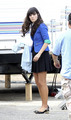 "Zooey Deschanel on the set of her new awesome TV show ""New Girl"" L.A, Sep 30"