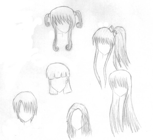 Anime girl hair color