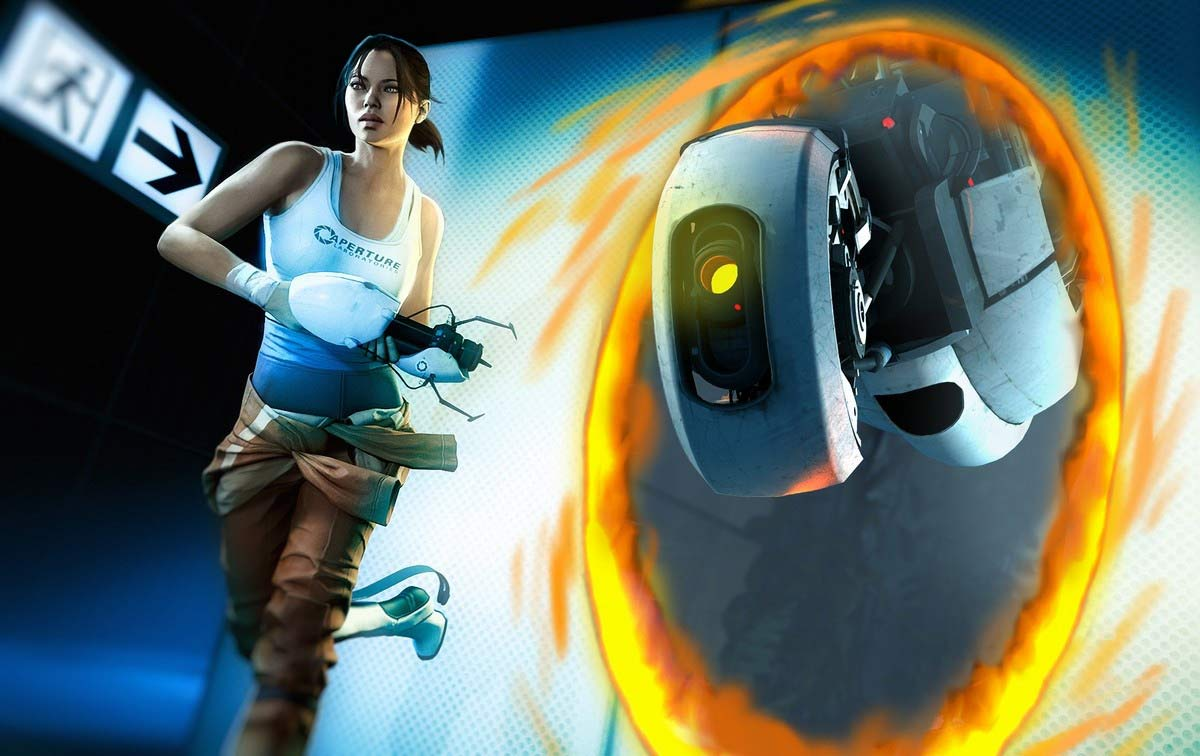 Portal 2 Images Chell And GLaDOS HD Wallpaper Background Photos