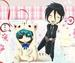 ciel dressed as a cat and sebastian obsessing