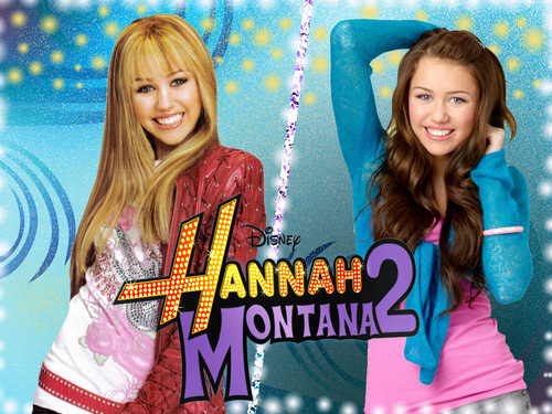 Hannah Montana wallpaper possibly containing a portrait entitled hannah montana & miley cyrus