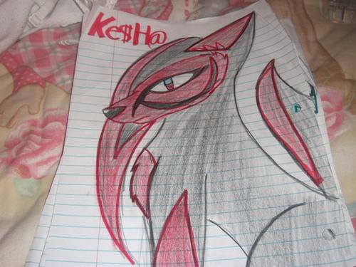 kesha in 狼, オオカミ form