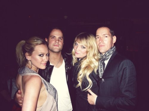 Hilary Duff & Mike Comrie 바탕화면 probably with a well dressed person, a 칵테일 dress, and a portrait entitled mike and hilary