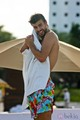 sexy body piqué on beach