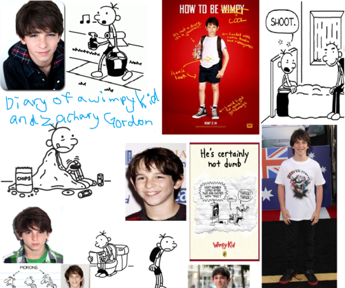 wimpy kid uithangbord paper i made