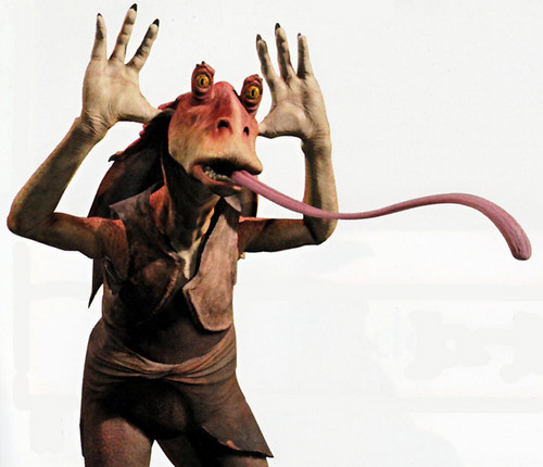 Jar Jar Binks wallpaper possibly containing a sign entitled  Jar Jar