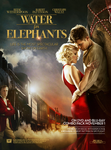 "Water for Elephants fond d'écran probably containing a concert and animé entitled ""Water for Elephants"" Blu-Ray/DVD Ad"
