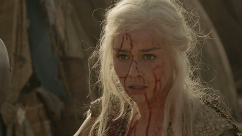 "Daenerys Targaryen fond d'écran with a portrait titled 1x09 ""Baelor"""