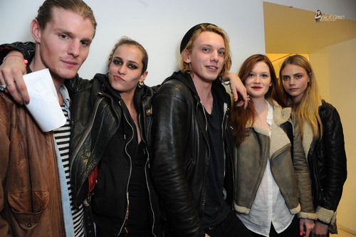 Jamie Campbell Bower 壁紙 possibly with a well dressed person, a business suit, and an outerwear called 2011 - Official Closing Party for the British Fashion Council
