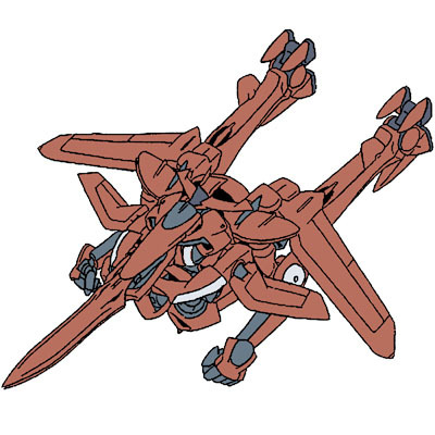 Gundam দেওয়ালপত্র called AEU-09Y812 AEU Enact Ali Al-Saachez Custom Agrissa Type (Flight Mode)