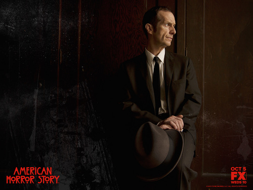 American Horror Story karatasi la kupamba ukuta with a business suit titled American Horror Story