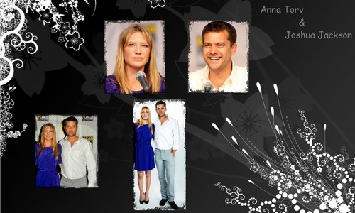 Anna Torv and Joshua Jackson fondo de pantalla possibly containing a well dressed person called Anna & Josh <3