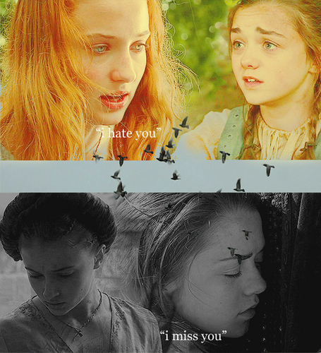 Arya and Sansa Stark