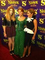 At 'Shrek; The Musical' with Kimberly Walsh and Cheryl Cole.