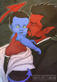 Azazel and Baby Kurt - azazel-from-x-men fan art