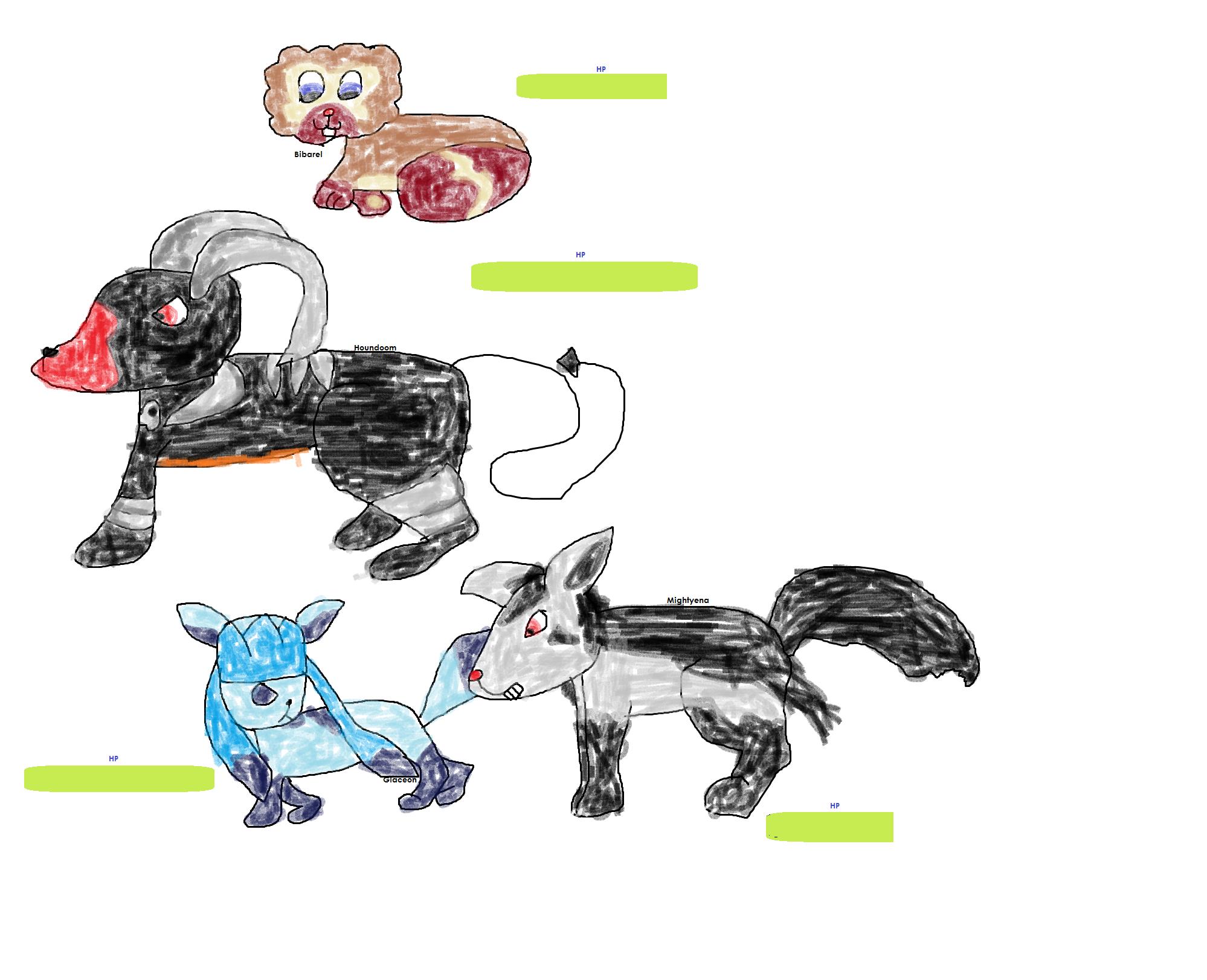 Battling Pokemons