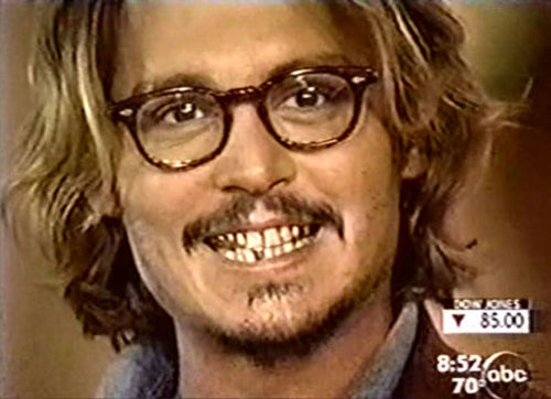 Johnny Depp wallpaper containing a portrait titled Big smile!!
