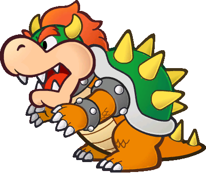 Paper Mario and TTYD wolpeyper probably containing anime entitled Bowser