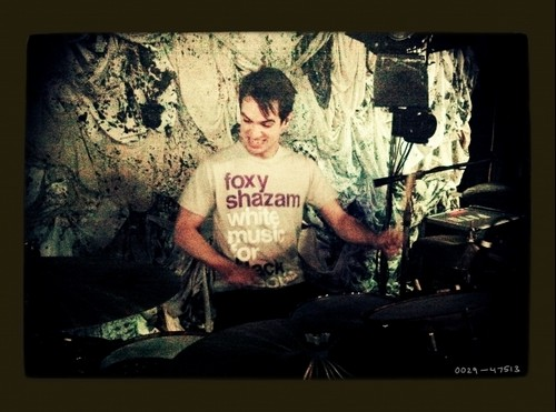 Brendon Urie images Brendon playing drums during sound check <3 wallpaper and background photos