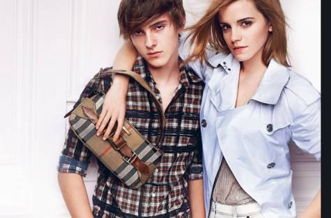 burberry Emma Watson and Alex Watson [brother]