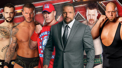 CM Punk,Randy Orton,John Cena,Triple H,Sheamus,Big প্রদর্শনী