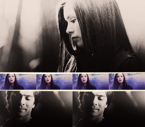 Delena kertas dinding possibly with a portrait entitled Damon & Elena <3