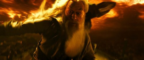 Dumbledore and his fire in the cave