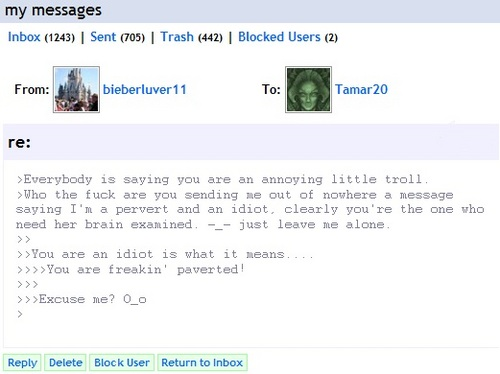Everybody is saying I'm an annoying troll and a pervert?! xD