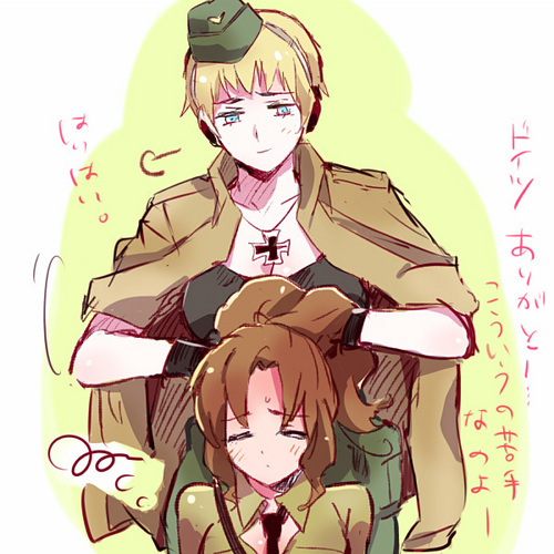 Hetalia-Gerita wallpaper probably containing anime entitled Fem!Germany and Fem!Italy
