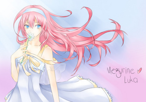 Megurine Luka wallpaper possibly containing anime titled Flowing