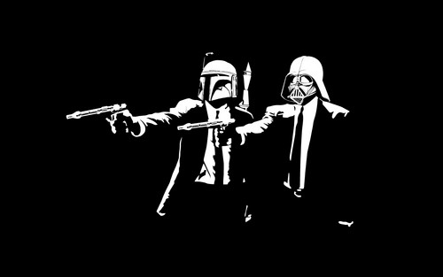 étoile, étoile, star Wars fond d'écran entitled Funny Wallpaper-Pulp Fiction Parody