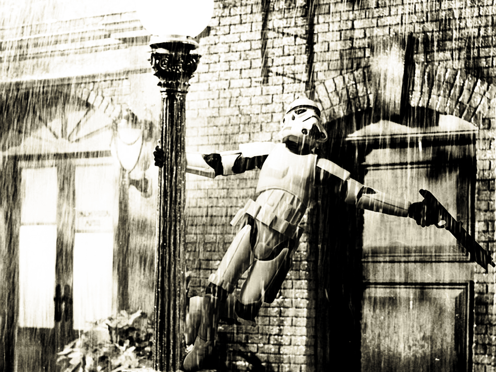Star wars funny wallpaper stormtrooper singing in the rain