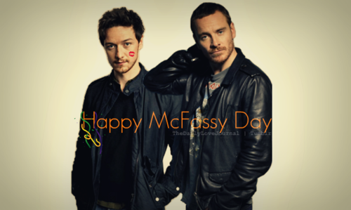 James McAvoy and Michael Fassbender wallpaper entitled Happy McFassy Tuesday!