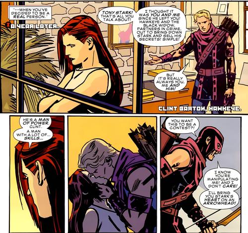 Hawkeye & Black Widow karatasi la kupamba ukuta containing anime called Hawkeye & Black Widow