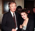 Helena and Alan Rickman - helena-bonham-carter photo