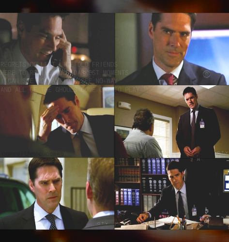 Criminal Minds achtergrond containing a business suit, a suit, and a dress suit titled Hotch
