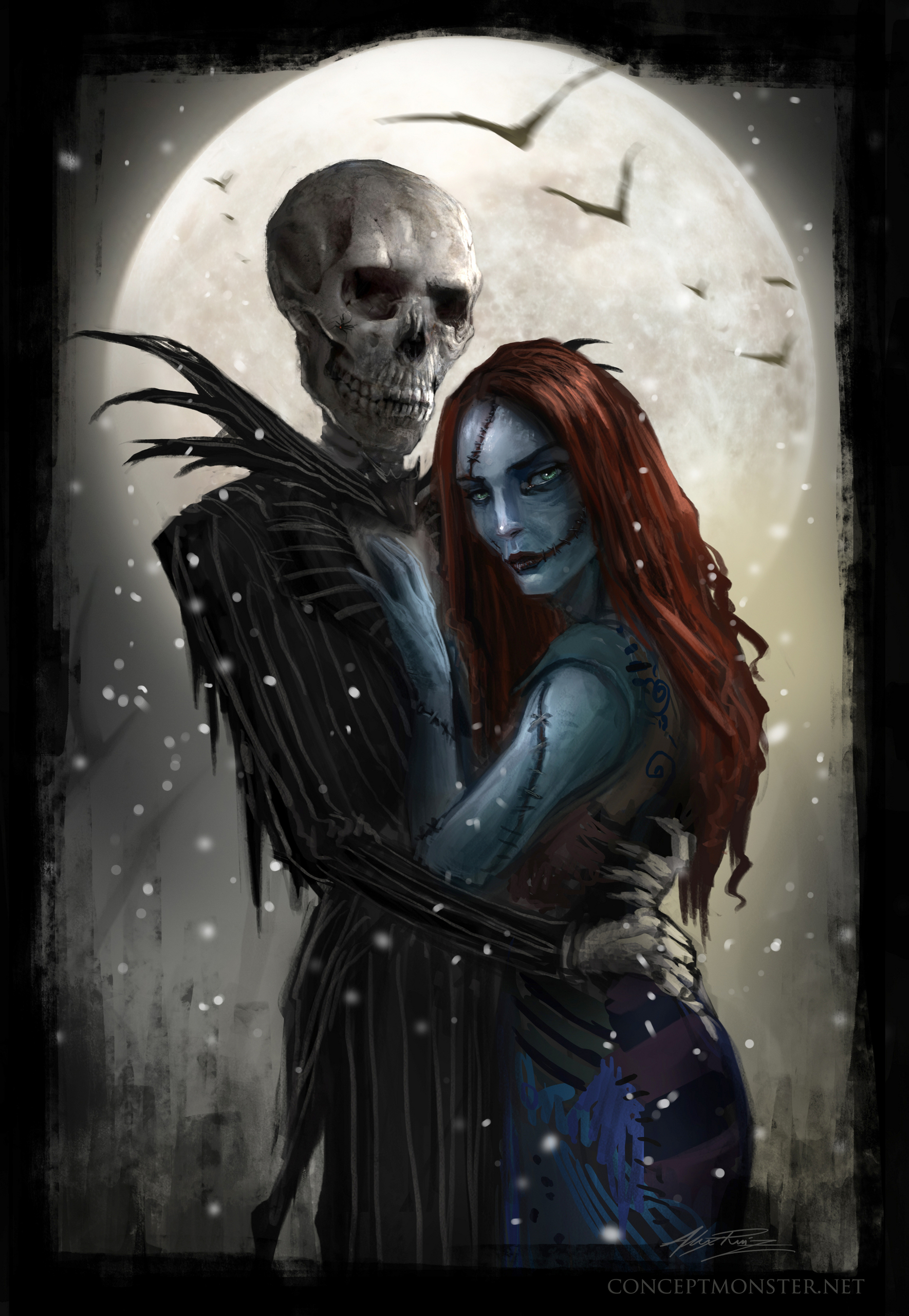 Jack and Sally 'Meant to Be' - Nightmare Before Christmas Fan Art ...