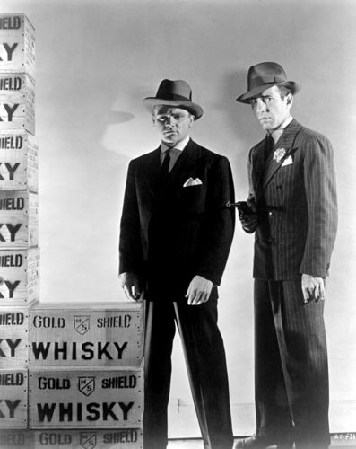 James Cagney and Humphrey Bogart