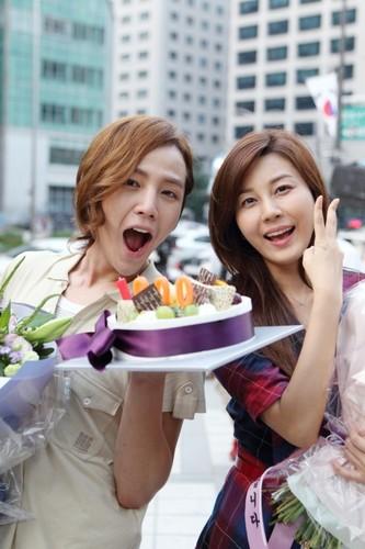 Jang Geun Suk & Kim Ha-Neul after finishing shooting You're My Pet