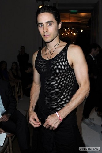 Jared at Yves Saint Laurent Fashion Show - Paris - 03 Oct 2011