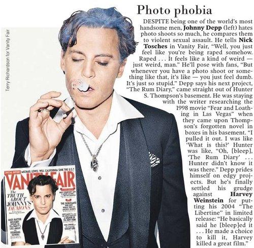 """Johnny Depp """"Vanity Fair"""" Nov.2011"""