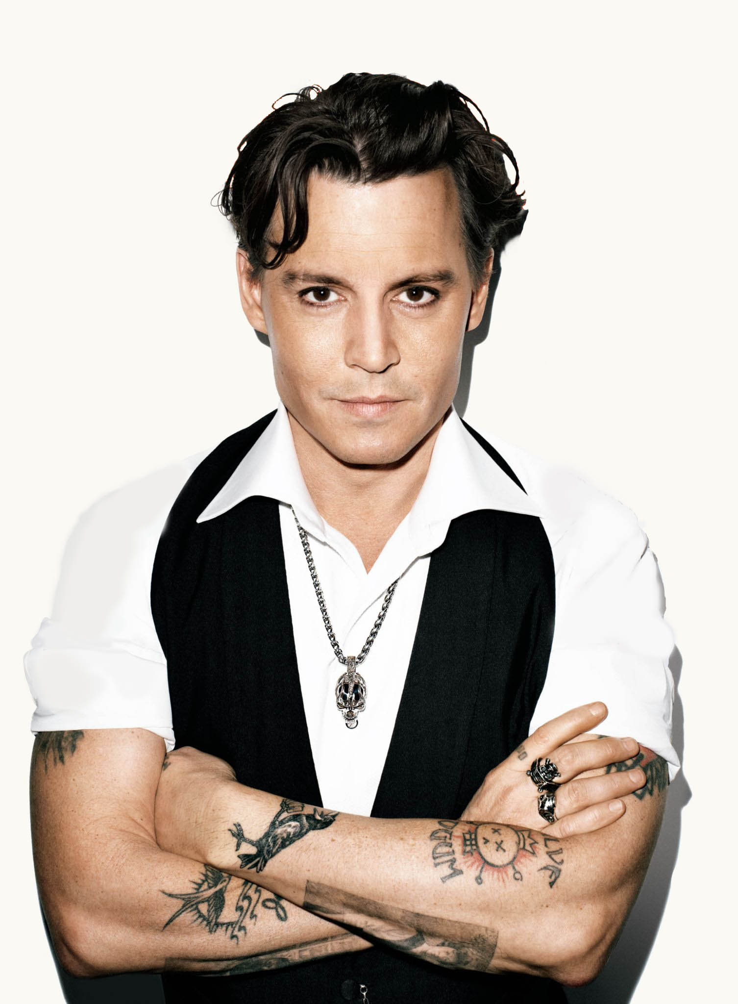 Short hairstyles dark hair 2017 fashion and women - Johnny Depp Without Text Vanity Fair Cover Johnny Depp