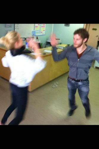 Joseph and Claire dancing