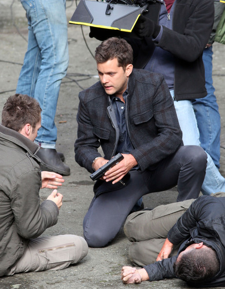 Josh on the set of Fringe season 4