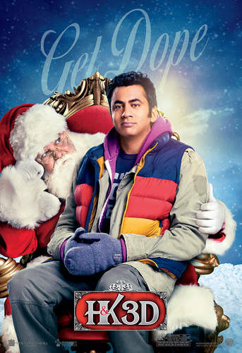 Kal Penn as Kumar in a Promotional Poster for 'A Very Harold & Kumar Christmas'