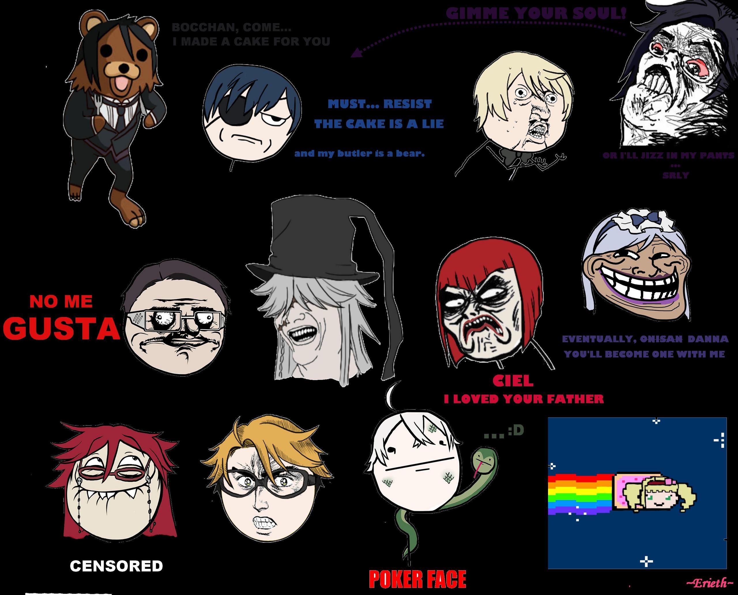 Anime Kuroshitsuji Memes -w-