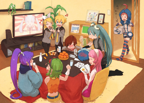 ランダム 壁紙 probably containing a neonate and a living room titled Lily, Luka, Miku, Meiko, and other ボーカロイド
