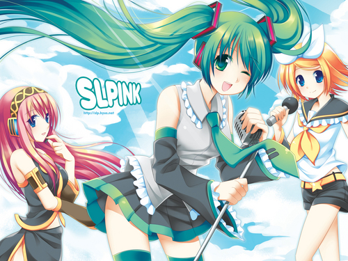 Random wallpaper called Lily, Luka, Miku, Meiko, and other Vocaloids